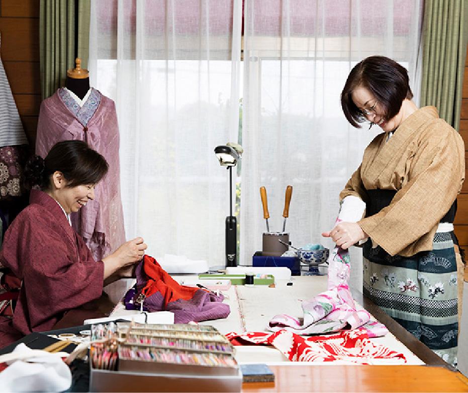 6 Making undergarment and obi - sash
