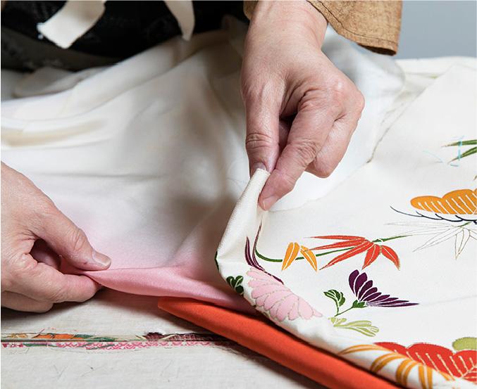 2 Selecting lining cloth